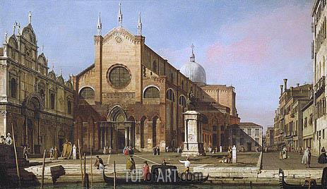 Canaletto | Venice: The Campo SS. Giovanni e Paolo, c.1738