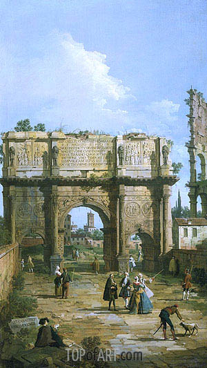 Rome: The Arch of Constantine, 1742 | Canaletto | Painting Reproduction