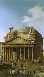 Rome: The Pantheon, 1742 | Canaletto | Painting Reproduction