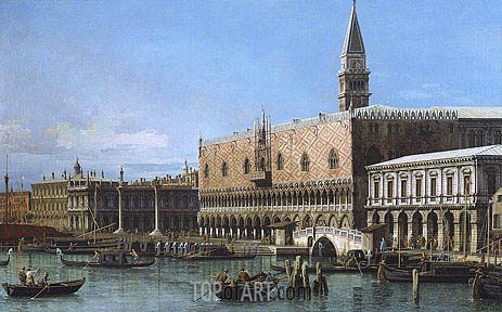 Canaletto | Venice: The Molo with the Prisons and the Doges' Palace, 1743