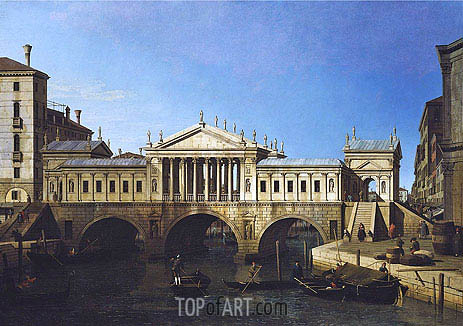 Canaletto | Venice: Caprice View with Palladio's Design for the Rialto, 1744