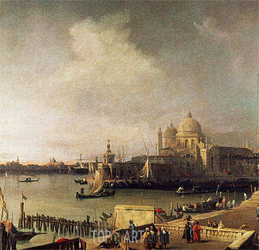 Entrance to the Grand Canal, c.1726/28 | Canaletto| Painting Reproduction