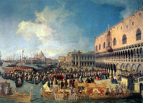 Canaletto | Reception of the Imperial Ambassador at the Doge's Palace, 1729