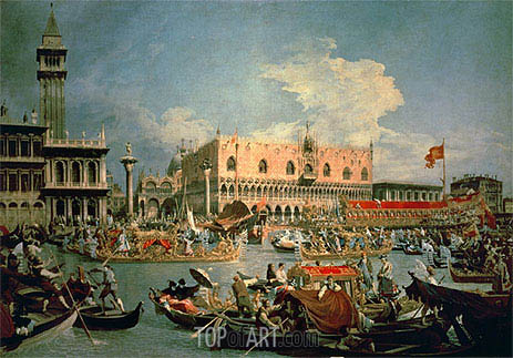 Return of the Bucintoro on Ascension Day, 1729 | Canaletto | Gemälde Reproduktion