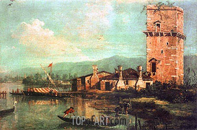 Torre di Marghera, 1741 | Canaletto | Painting Reproduction