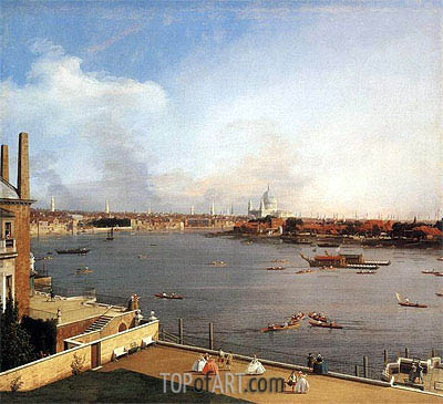London: The Thames and the City of London from Richmond House, 1746 | Canaletto| Painting Reproduction
