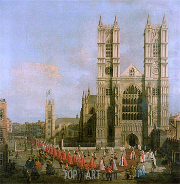Canaletto | Procession of the Knights of the Bath, 1749
