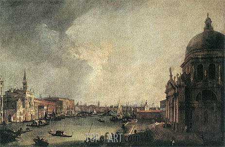 Entrance to the Grand Canal: Looking East, c.1725 | Canaletto | Painting Reproduction