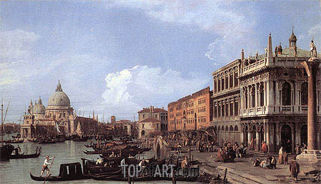 The Molo: Looking West, 1730 | Canaletto| Painting Reproduction
