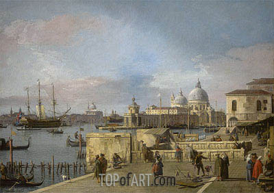 Entrance to the Grand Canal from the Molo, Venice, c.1742/44 | Canaletto | Painting Reproduction