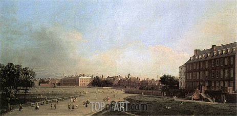 London: The Old Horse Guards from St. James's Park, c.1749 | Canaletto| Painting Reproduction