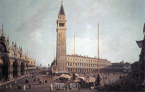 Piazza San Marco: Looking South-West, c.1750/59 | Canaletto | Gemälde Reproduktion
