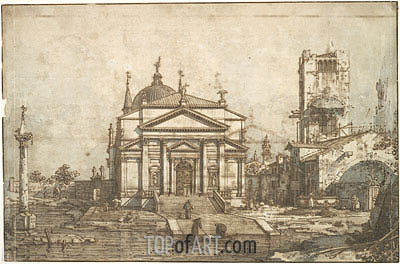 The Church of the Redentore, c.1742 | Canaletto | Painting Reproduction