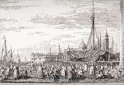 The Market on the Molo, undated | Canaletto | Painting Reproduction