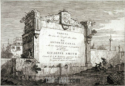 Title Plate from the Series Vedute, c.1735/46 | Canaletto| Painting Reproduction
