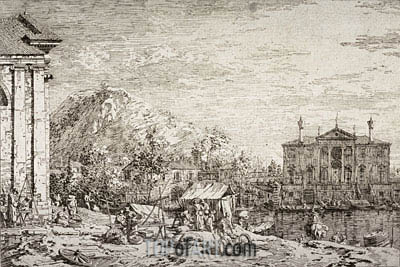 The Market at Dolo, undated | Canaletto| Painting Reproduction