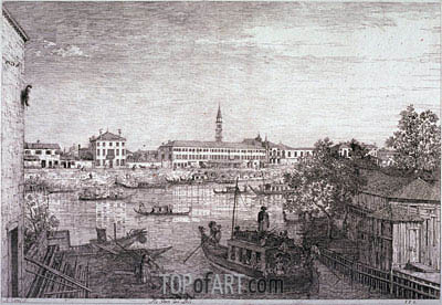 Ale Porte del Dolo, c.1735/44 | Canaletto| Painting Reproduction