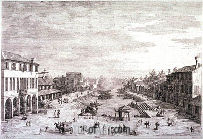 Mestre, c.1735/44   Canaletto   Painting Reproduction
