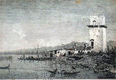 La Torre di Malghera, undated | Canaletto | Gemälde Reproduktion