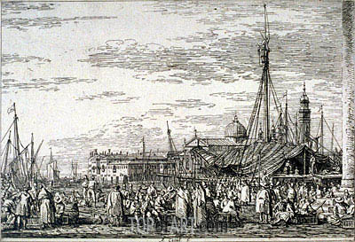 The Market on the Molo, undated | Canaletto| Painting Reproduction
