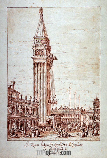 Canaletto | Piazzetta with Campanile under Construction, undated