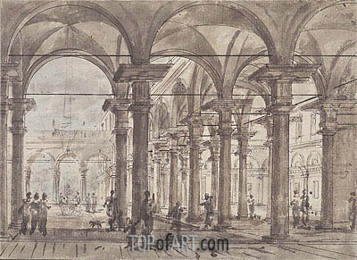 Canaletto | Architectural Design (Piazza with Open Colonnade), undated
