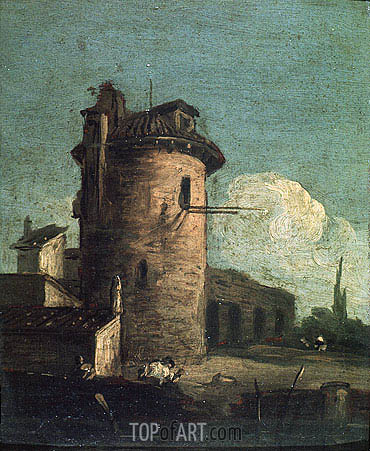View with Ruins, undated | Canaletto | Painting Reproduction