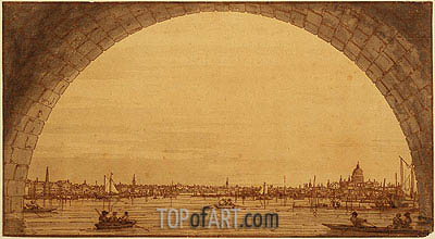 Distant View of St. Paul's Cathedral, c.1746/55 | Canaletto | Painting Reproduction