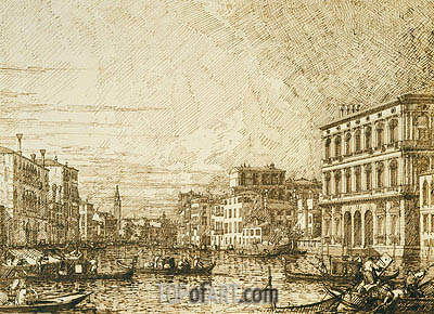 Canaletto | A View on the Lower Reaches of the Grand Canal, c.1730