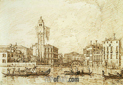 San Geremia and the Entrance to the Cannaregio, 1734 | Canaletto | Painting Reproduction