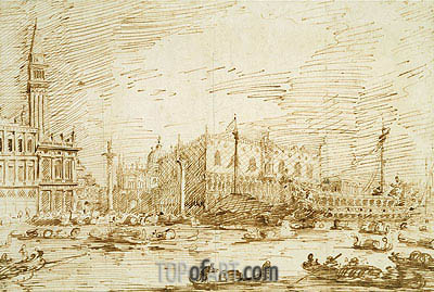 The Bacino di San Marco on Ascension Day, 1729 | Canaletto | Painting Reproduction