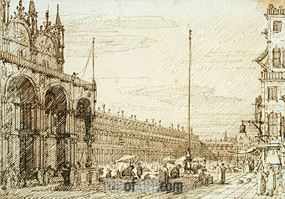 The Piazzetta dei Leoni, c.1735/40 | Canaletto | Painting Reproduction