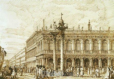 Canaletto | The Libreria and Molo, c.1734