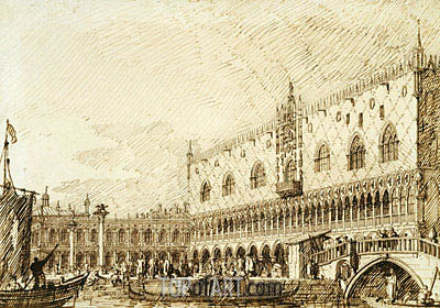 The Palazzo Ducale and Molo, c.1734 | Canaletto| Painting Reproduction