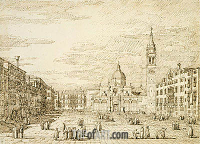 Venice: Campo Santa Maria Formosa, c.1735/40 | Canaletto | Painting Reproduction