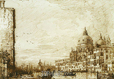 The Lower Reach of the Grand Canal, Looking East, c.1734 | Canaletto | Painting Reproduction