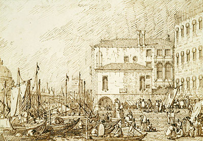 View of the Fontegheto della Farina, c.1735/40 | Canaletto | Painting Reproduction