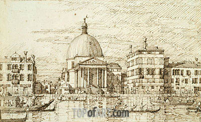 San Simeon Piccolo, c.1735/40 | Canaletto| Painting Reproduction