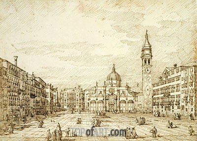 Campo Santa Maria Formosa, c.1735/40 | Canaletto| Painting Reproduction