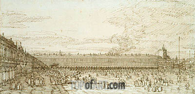 The Procuratie Vecchie and Piazza San Marco, c.1740 | Canaletto | Painting Reproduction