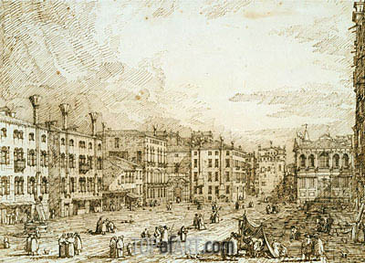 Campo Santo Stefano, c.1735/40 | Canaletto| Painting Reproduction