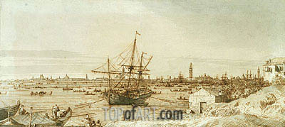 The Bacino from the Punta di Sant'Antonio, c.1740 | Canaletto| Painting Reproduction