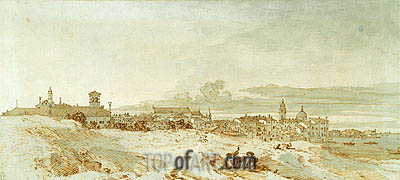 Castello from the Punta di Sant'Antonio, c.1740 | Canaletto | Painting Reproduction