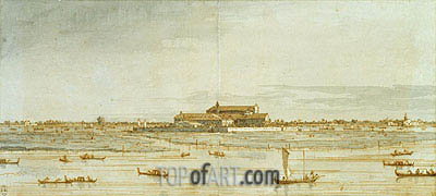 Sant'Elena from San Pietro, c.1740 | Canaletto | Painting Reproduction