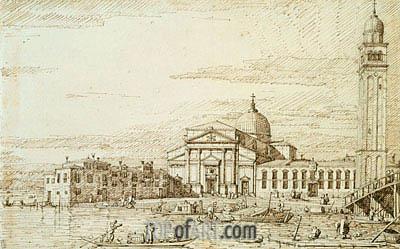 San Pietro di Castello, c.1735/40   Canaletto   Painting Reproduction