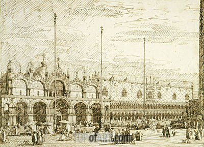 San Marco and the Palazzo Ducale, c.1740/45 | Canaletto| Painting Reproduction