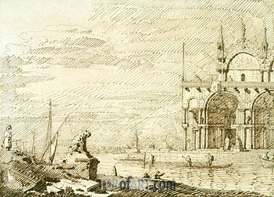 A Capriccio with San Marco in the Lagoon, c.1740/45 | Canaletto | Painting Reproduction