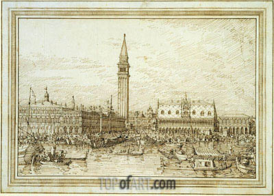 The Molo from the Bacino, c.1740/45 | Canaletto| Painting Reproduction
