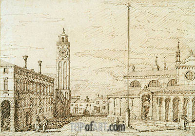 A Capriccio with Santi Maria e Donato, Murano, c.1740/45 | Canaletto| Painting Reproduction