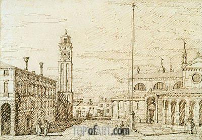 Canaletto | A Capriccio with Santi Maria e Donato, Murano, c.1740/45